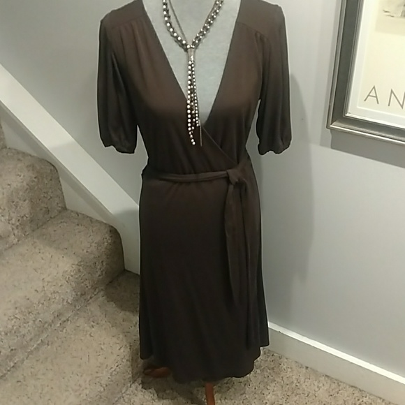 Ann Taylor Dresses & Skirts - The Loft Brown Wrap Dress Size 12